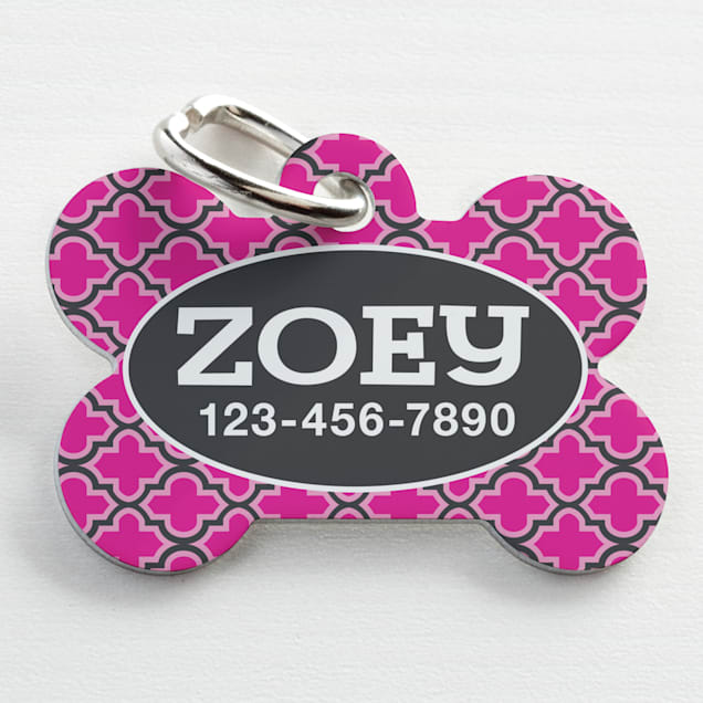 Custom Personalization Solutions Personalized Pet Tag Pink - Carousel image #1