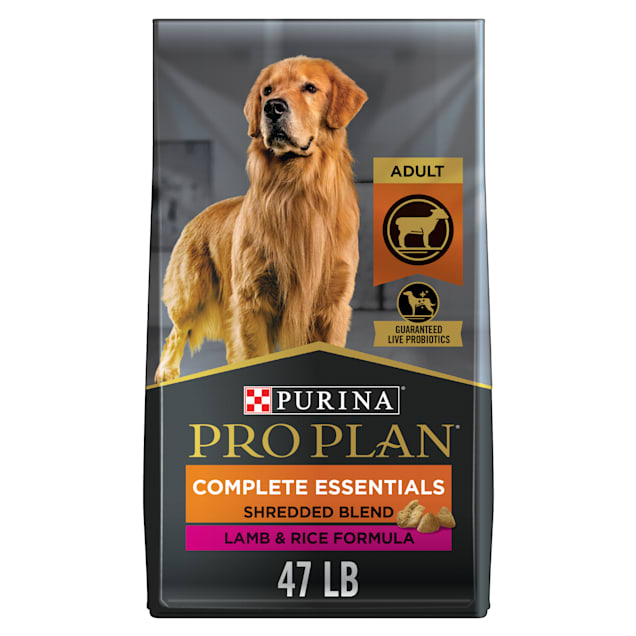 Purina Pro Plan With Probiotics Shredded Blend Lamb and Rice Formula Adult Dry Dog Food, 47 lbs. - Carousel image #1