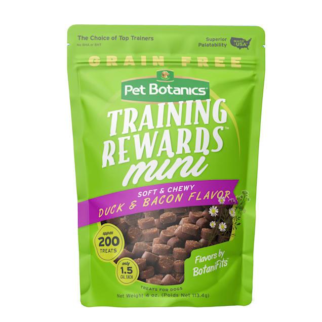 Pet Botanics Grain Free Mini Training Reward Duck & Bacon Flavor Dog Treats, 4 oz. bag, 200 count - Carousel image #1