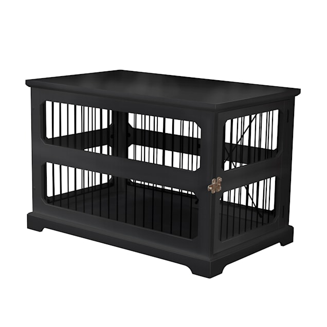 "Zoovilla Slide Aside Crate And End Table In Black, 35.43""L X 21.65""W X 23.5""H - Carousel image #1"