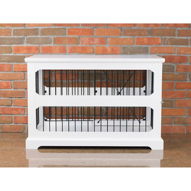 """Zoovilla Slide Aside Crate And End Table In White, 35.43""""L X 21.65""""W X 23.5""""H - Carousel image #1"""