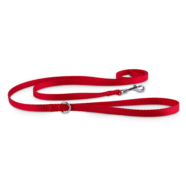 "Good2Go Red Nylon Dog Leash, 1/2"" Width, 6' Length - Carousel image #1"