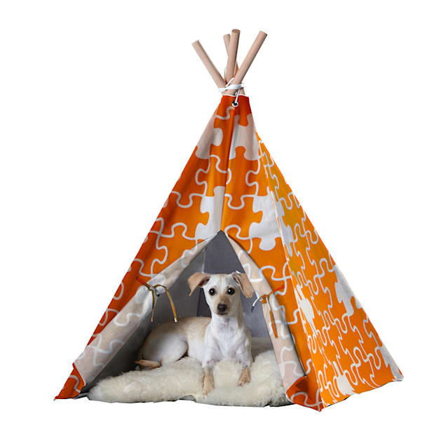 Zoovilla Pet Teepee Orange Puzzle - Carousel image #1