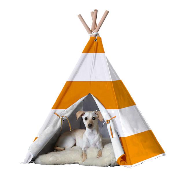 Zoovilla Pet Teepee Orange Stripe - Carousel image #1