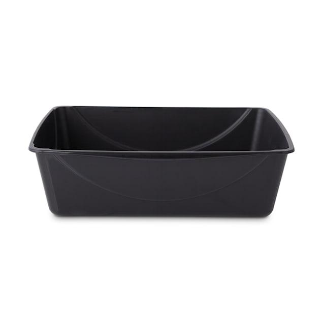 "So Phresh Black Cat Litter Pan with Microban, 21.75"" L X 16.75"" W X 6.5"" H - Carousel image #1"