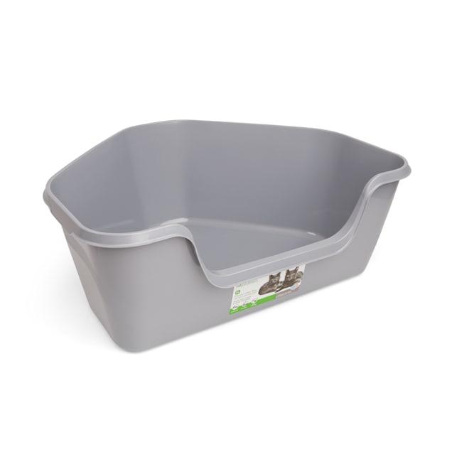 "So Phresh High-Back Corner Grey Litter Box, 26.25""L x 21.5""W x 10""H - Carousel image #1"