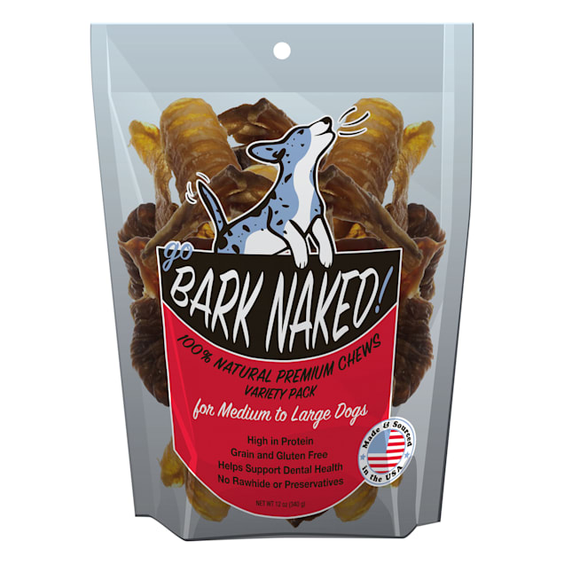 Yoghund Go Bark Naked Natural Premium Variety Pack of Chews for Dog, 12 oz. - Carousel image #1