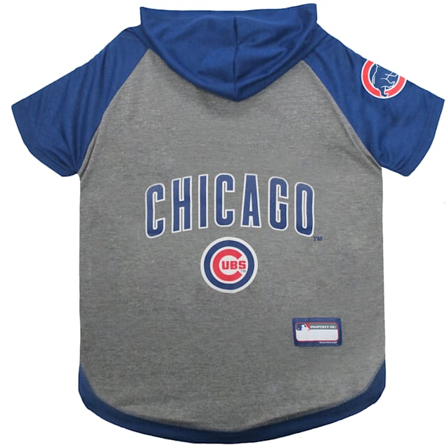 Pets First Chicago Cubs Dog Hoodie Tee, X-Small - Carousel image #1