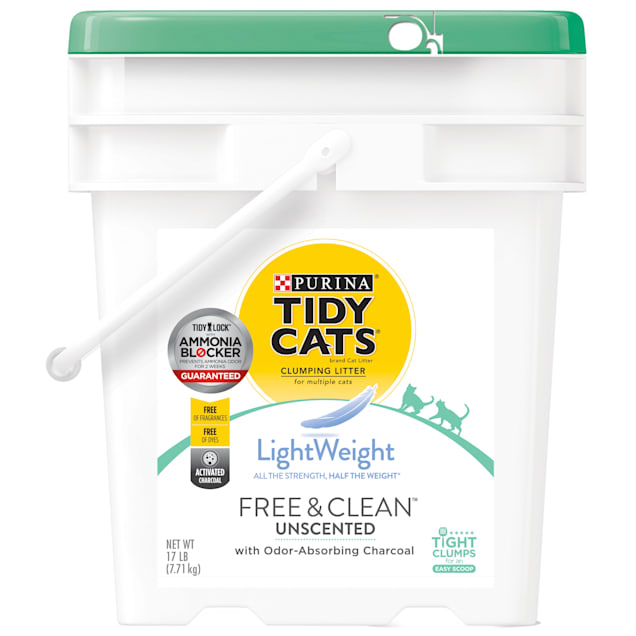Purina Tidy Cats LightWeight Free & Clean Unscented Dust Free Clumping Multi Cat Litter, 17 lbs. - Carousel image #1