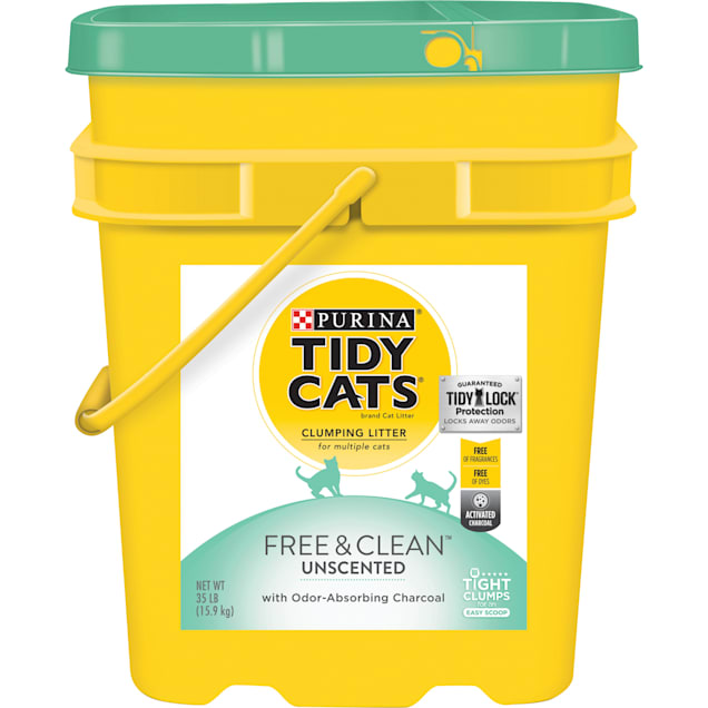 Purina Tidy Cats Free & Clean Unscented Clumping Multi Cat Litter, 35 lbs. - Carousel image #1
