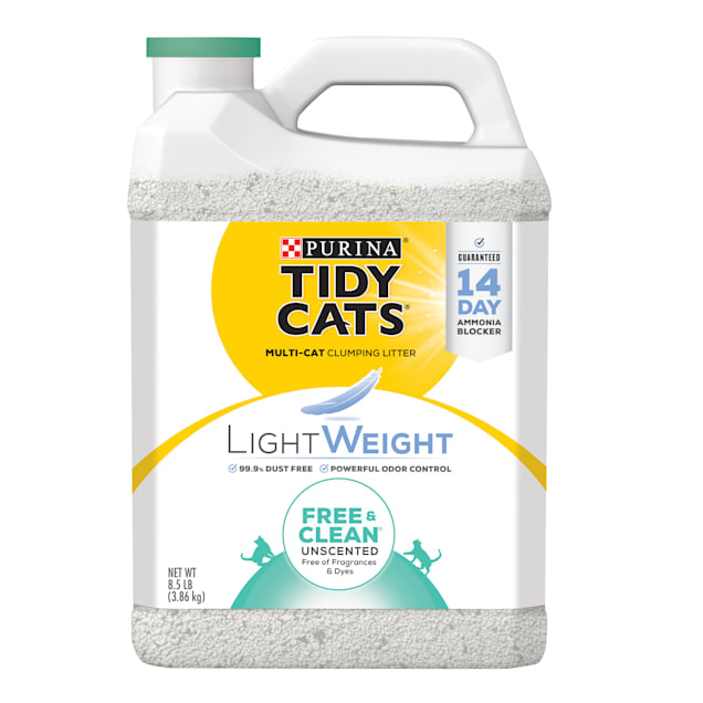 Tidy Cats LightWeight Free & Clean Unscented Dust Free Clumping Multi Cat Litter, 8.5 lbs. - Carousel image #1