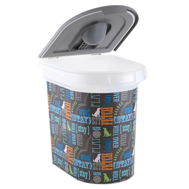 Paw Prints Food Bin Wordplay, 26 lbs. Capacity, Large - Carousel image #1