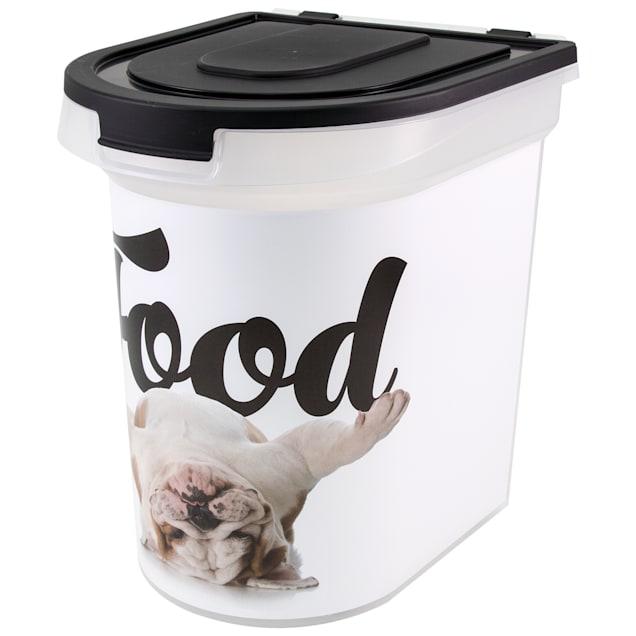 Paw Prints Food Bin Bulldog, 26 lbs. Capacity, Large - Carousel image #1