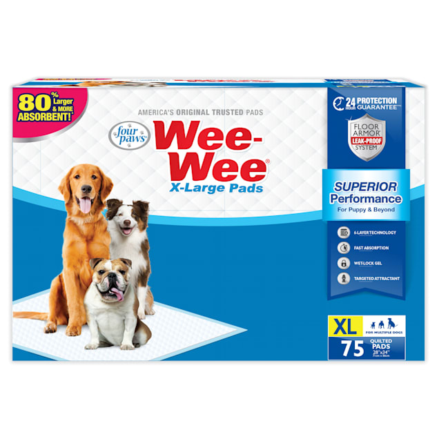 Wee-Wee XL Potty Pads, 75 Count - Carousel image #1