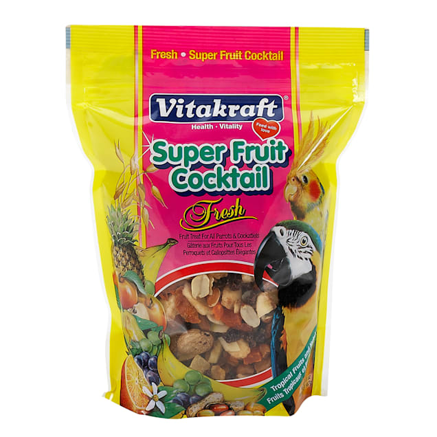 Vitakraft Super Fruit Cocktail Parrot & Cockatiel Treat, 20 oz. - Carousel image #1