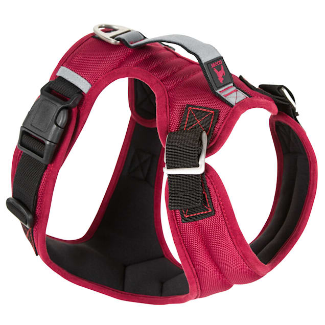 Gooby Pioneer Dog Harness with Control Handle & Seat Belt Restrain Capability Red, X-Large - Carousel image #1