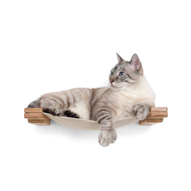 CatastrophiCreations The Cat Mod Lounge Hammock for Cats in English Chestnut, 18 IN W X 3 IN H - Carousel image #1