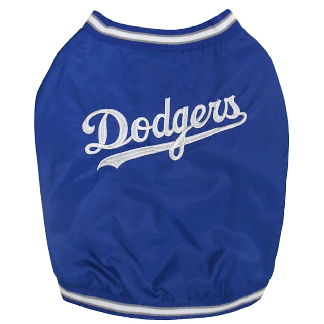 Pets First Official Los Angeles Dodgers Dugout Jacket, Small - Carousel image #1