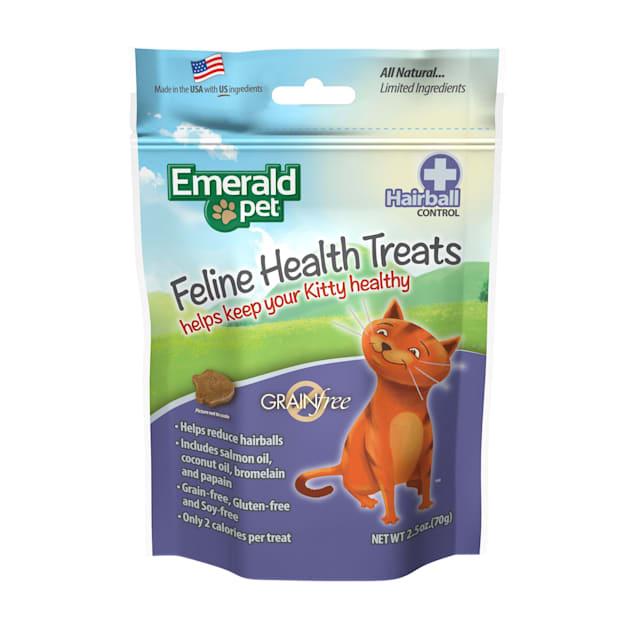 Emerald Pet Feline Hairball Control Treat For Cats, 2.5 oz - Carousel image #1