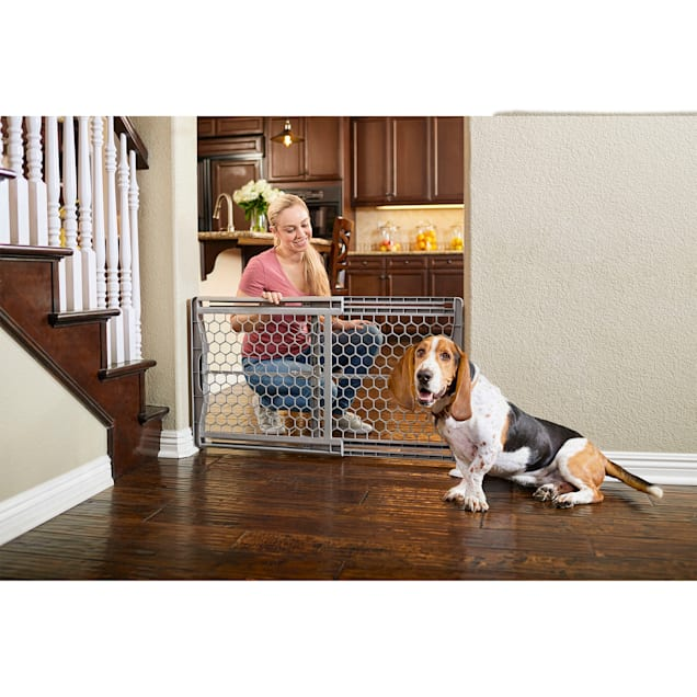 "You & Me Easy-Fit Plastic Pet Gate, 28""-42"" W x 23"" H - Carousel image #1"