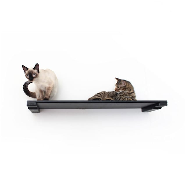 """CatastrophiCreations The Cat Mod 34"""" Solid Wood Shelf for Cats in Onyx, 34 IN W X 3 IN H - Carousel image #1"""