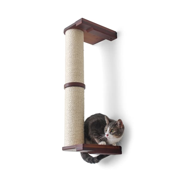 """CatastrophiCreations The Cat Mod 28"""" Wall-Mounted Sisal Pole for Cats in Onyx, 8 IN W X 33 IN H - Carousel image #1"""
