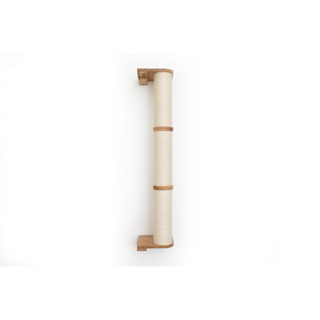 """CatastrophiCreations The Cat Mod 48"""" Wall-Mounted Sisal Pole for Cats in Natural, 8 IN W X 53 IN H - Carousel image #1"""