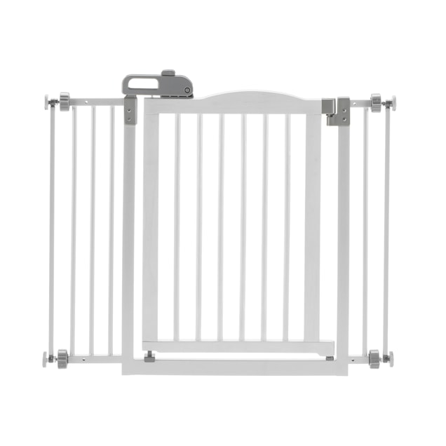 "Richell One-Touch White Pet Gate II, 36.4"" x 30.5"" x 2"" - Carousel image #1"