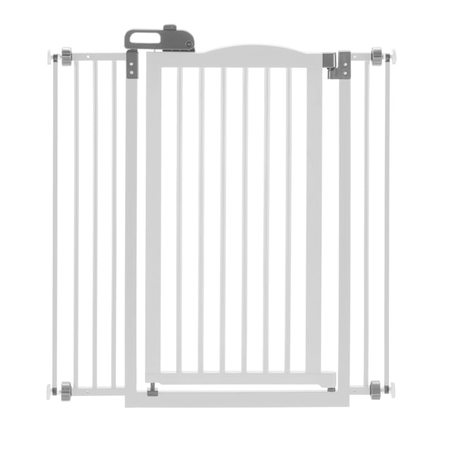 "Richell One-Touch White Pet Gate II Wide, 62.8"" x 30.5"" x 2"" - Carousel image #1"