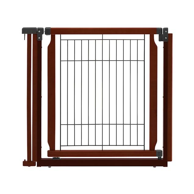 """Richell Convertible Elite Cherry Brown Pet Door Panel, 33.9"""" x 31.5"""" x 1.4"""" - Carousel image #1"""