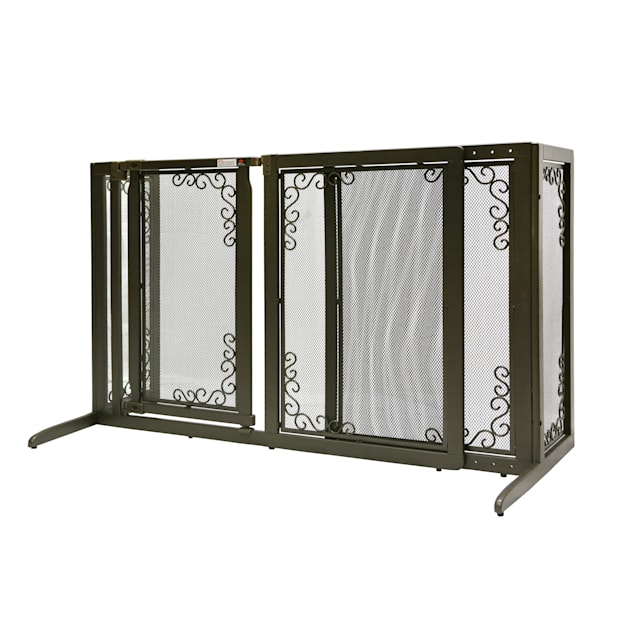 """Richell Deluxe Freestanding Mesh Pet Gate, 69.1"""" x 36.2"""" x 26.1"""" - Carousel image #1"""