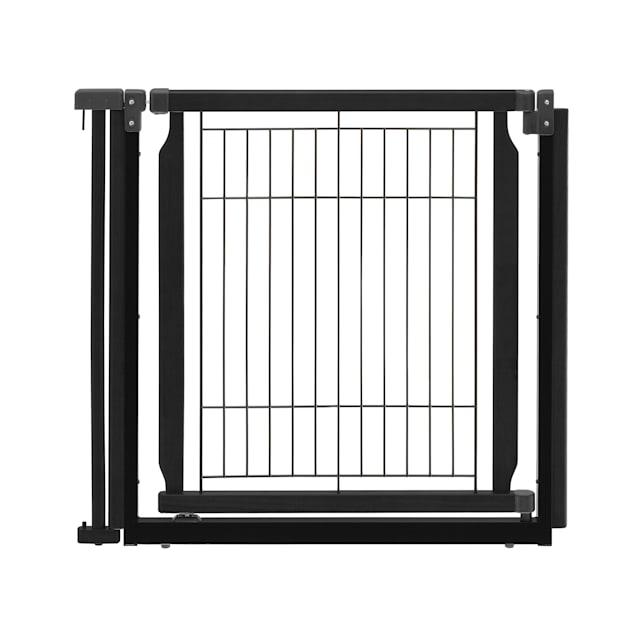 "Richell Convertible Elite Black Pet Door Panel, 33.9"" x 31.5"" x 1.4"" - Carousel image #1"