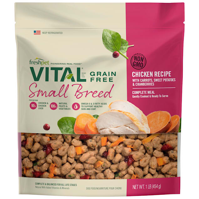Freshpet Vital Complete Meals Grain-Free Chicken Fresh Small Breed Dog Food, 1 lb. - Carousel image #1