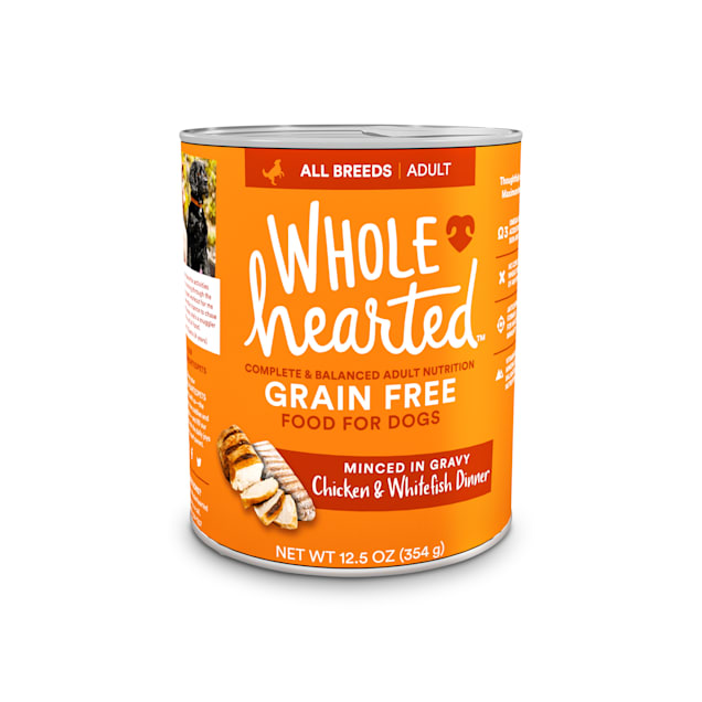 WholeHearted Grain-Free Adult Chicken and Whitefish Dinner Wet Dog Food, 12.5 oz., Case of 8 - Carousel image #1