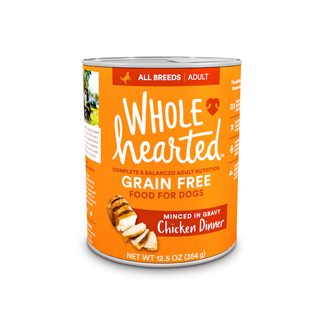 WholeHearted Grain-Free Adult Chicken Dinner Wet Dog Food, 12.5 oz., Case of 8 - Carousel image #1