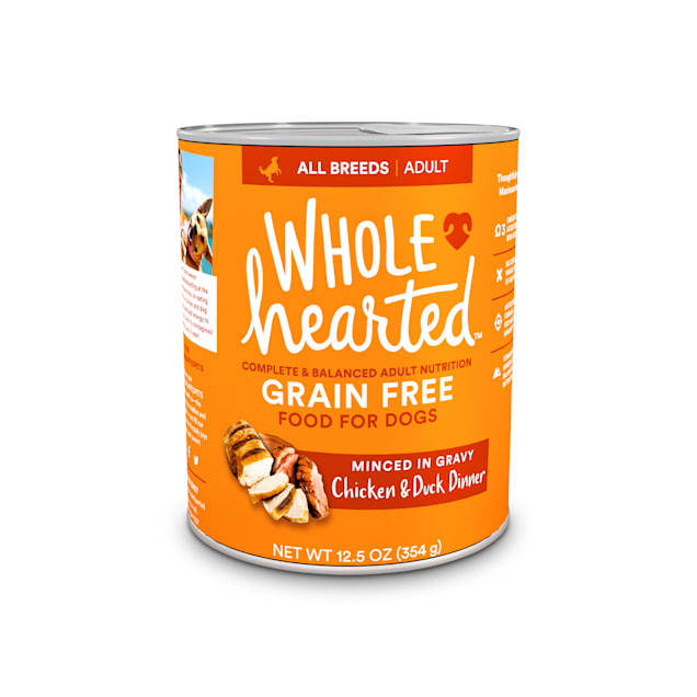 WholeHearted Grain-Free Adult Chicken and Duck Dinner Wet Dog Food, 12.5 oz., Case of 8 - Carousel image #1