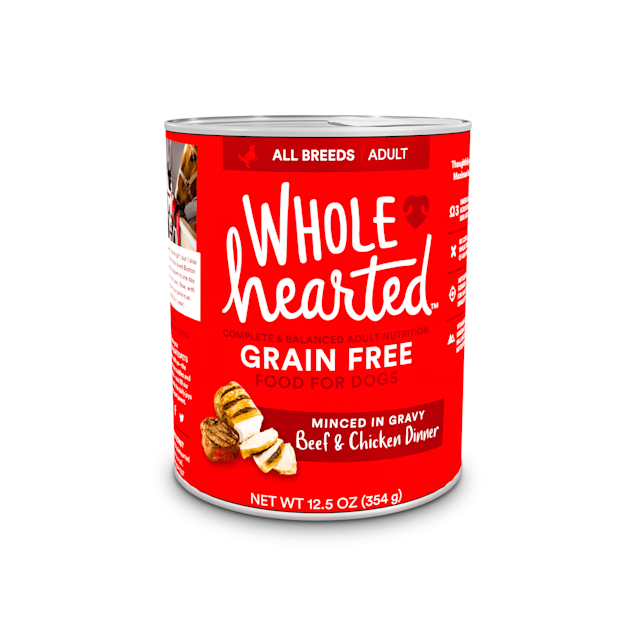 WholeHearted Grain-Free Adult Beef and Chicken Dinner Wet Dog Food, 12.5 oz., Case of 8 - Carousel image #1
