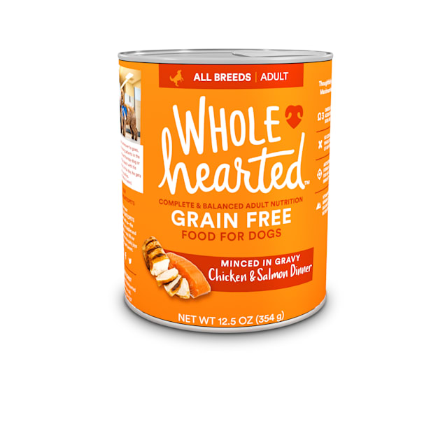 WholeHearted Grain-Free Adult Chicken and Salmon Dinner Wet Dog Food, 12.5 oz., Case of 8 - Carousel image #1