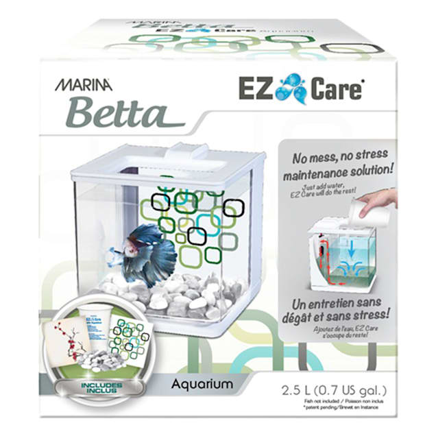Marina Betta Aquarium White EZ Care Plus kit, 1.35 Gallon - Carousel image #1