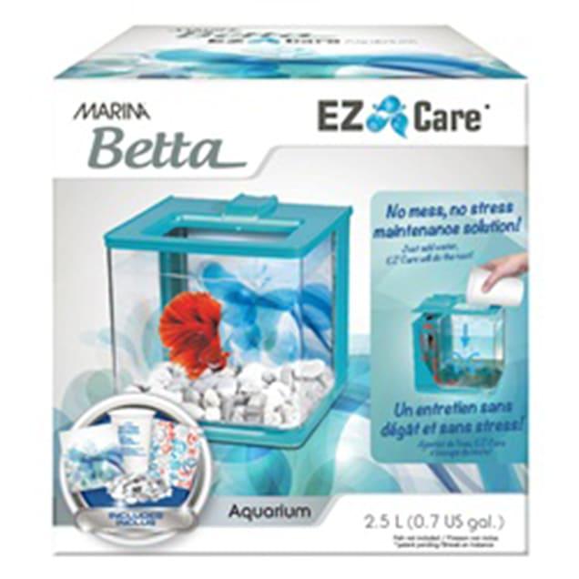 Marina Betta Aquarium Blue EZ Care Plus kit, 1.35 Gallon - Carousel image #1