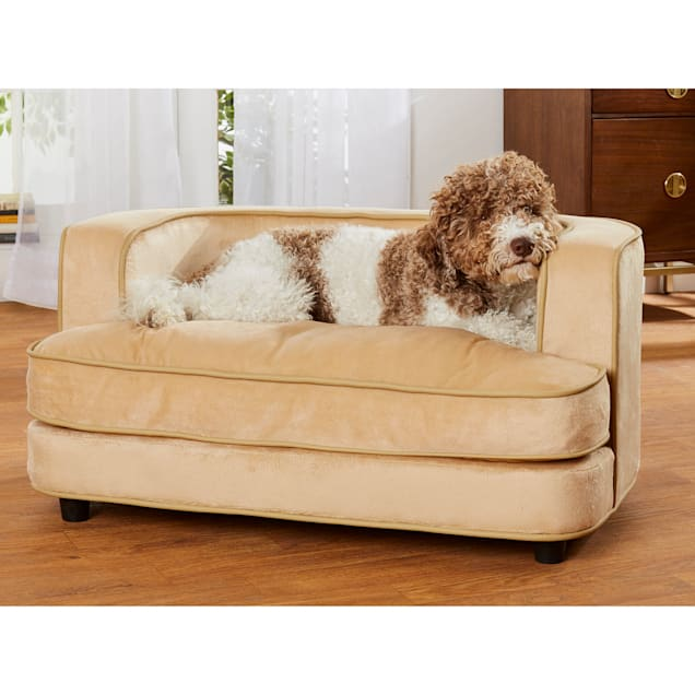 "Enchanted Home Pet Cliff Caramel Sofa for Dog, 35"" L  X 23"" W - Carousel image #1"
