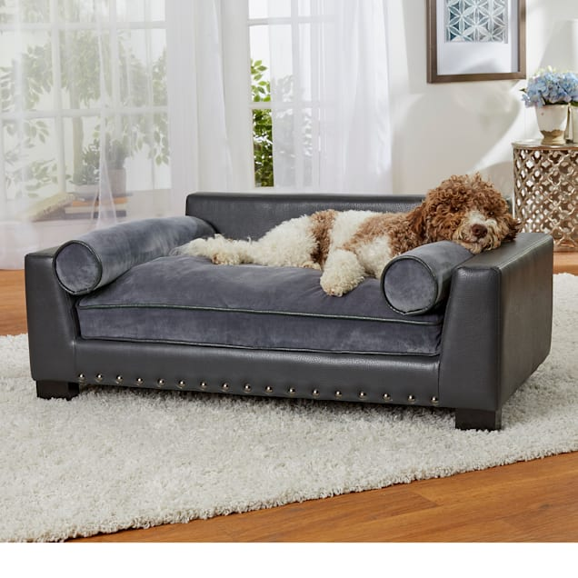"Enchanted Home Pet Skylar Dark Grey Sofa for Dog, 42"" L X 26"" W - Carousel image #1"
