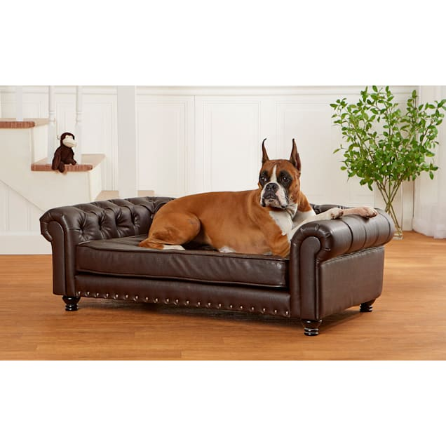 """Enchanted Home Pet Wentworth Pebble Brown Sofa for Dog, 44.75""""L  X 27.5"""" W - Carousel image #1"""