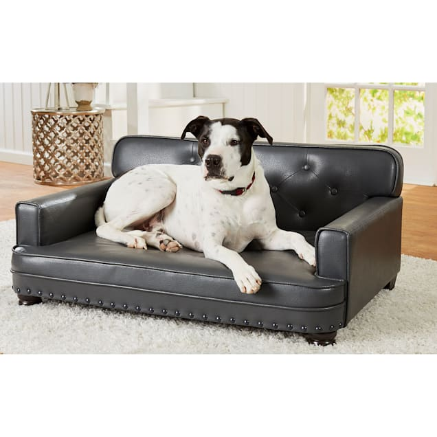 """Enchanted Home Pet Library Pet Grey Sofa for Dog, 40.5"""" L X 30"""" W - Carousel image #1"""