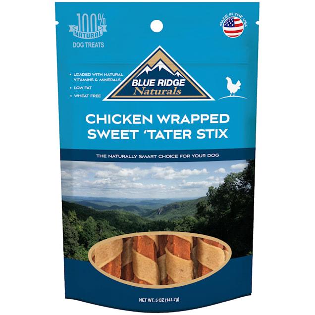 Blue Ridge Naturals Chicken Wrapped Sweet Tater Stix Dog Treats, 5 oz. - Carousel image #1