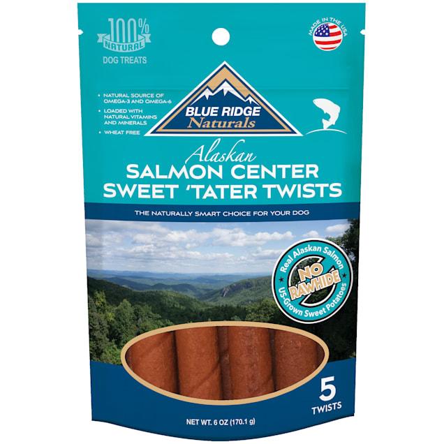 Blue Ridge Naturals Salmon Center Sweet Tater Twist Dog Treats, 6 oz. - Carousel image #1
