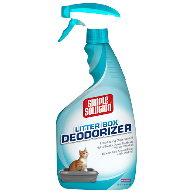 Simple Solution Cat Litter Box Deodorizer Spray Bottle, 32 fl. oz. - Carousel image #1