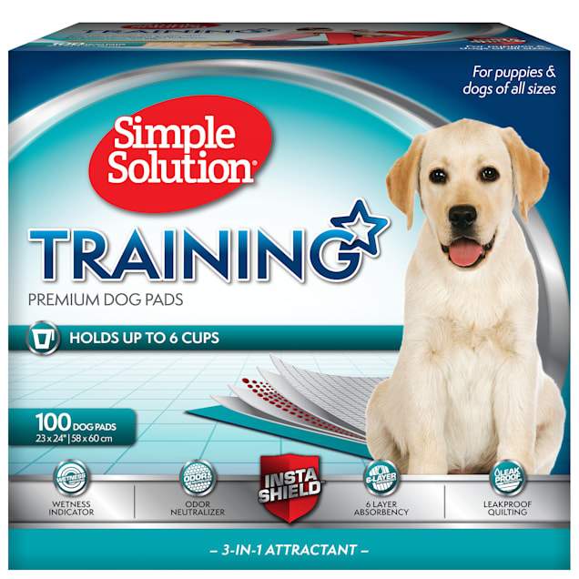 Simple Solution Dog Training Pads, Count of 100 - Carousel image #1