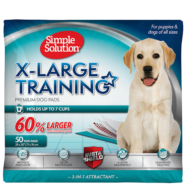 Simple Solution Extra Large Dog Training Pads, Count of 50 - Carousel image #1