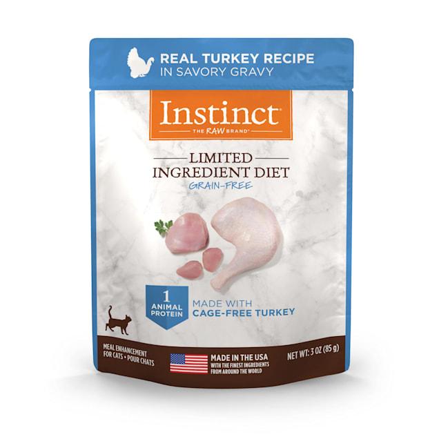 Instinct Limited Ingredient Diet Grain-Free Cuts & Gravy Real Turkey Recipe in Savory Gravy Wet Cat Food, 3 oz., Case of 24 - Carousel image #1